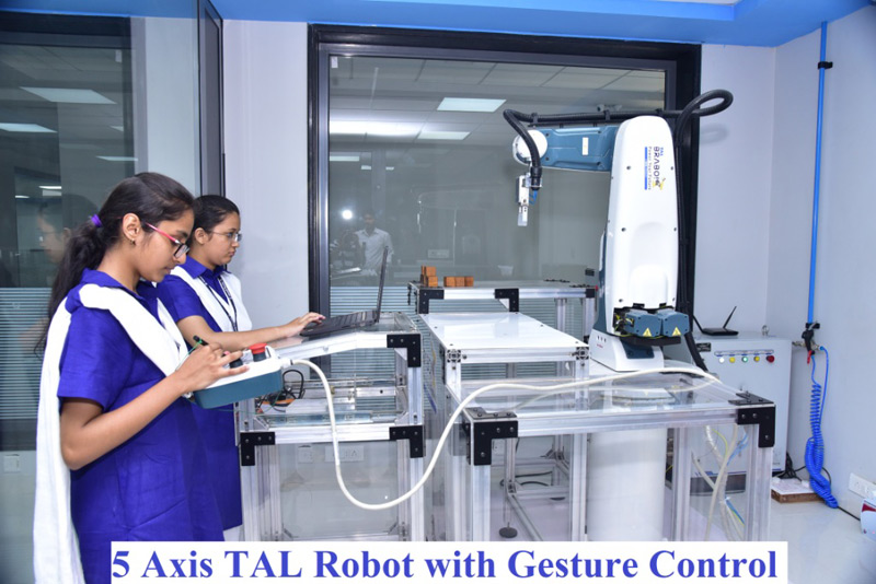 Five axis TAL robot with gesture control