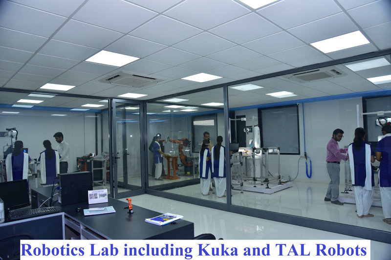 Robotics Lab including Kuka and TAL robots