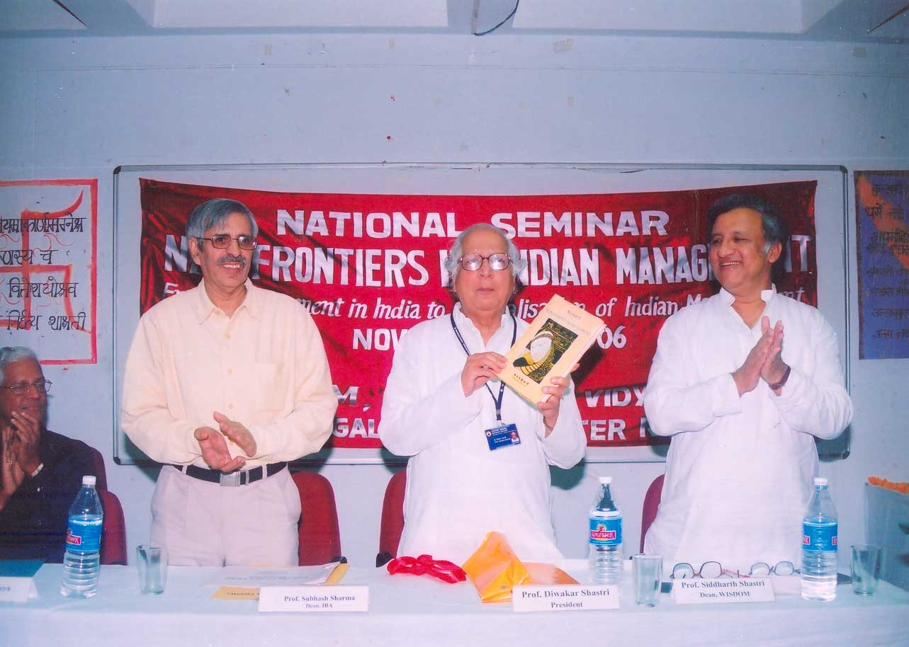Prof. Diwakar Shastri, President, Banasthali Vidyapith at the National Seminar on 'New Frontiers in Indian Management' (2006)