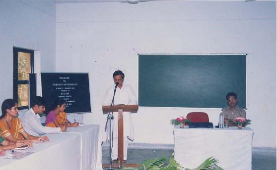 Prof. Siddarth Shastri, Welcoming the Participants of the Workshop on Research Methodology (2004)